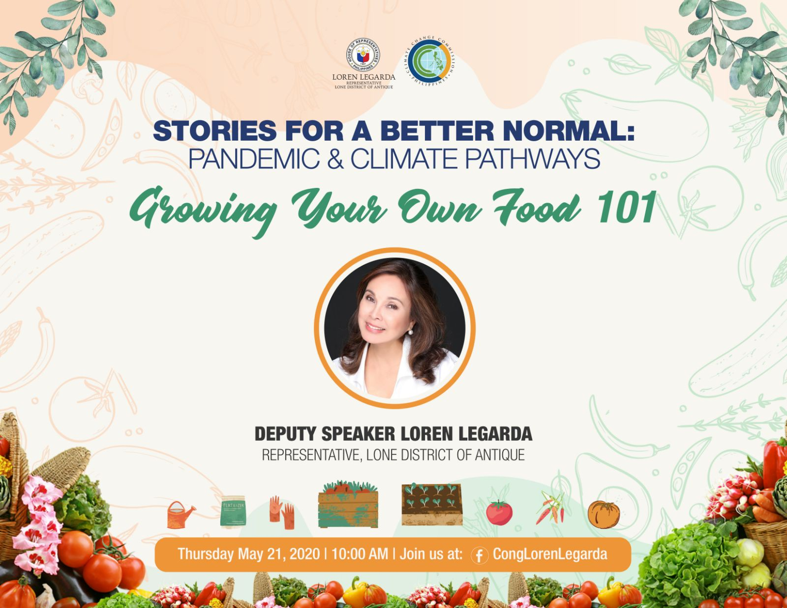 "Stories for a Better Normal: Pandemic and Climate Pathways — A morning conversation on ""Growing Your Own Food 101"""