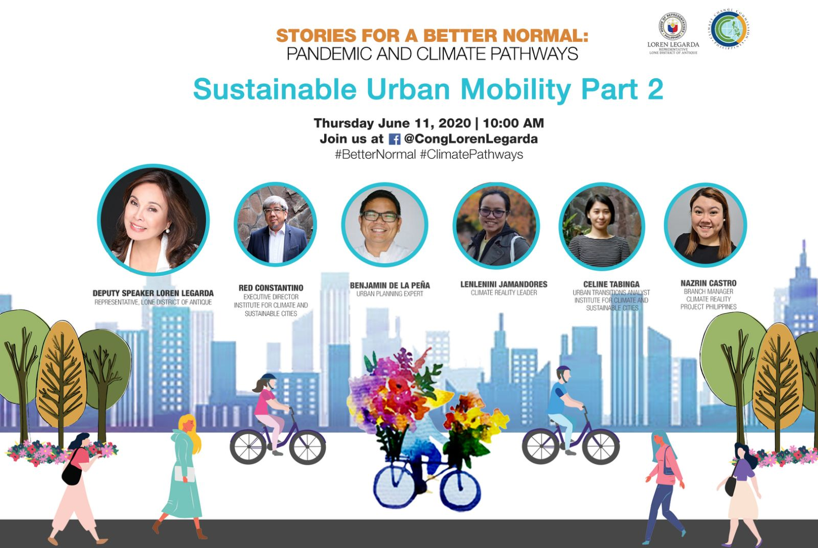 "Part 2 of Sustainable Urban Mobility in 4th Episode of ""Stories for a Better Normal"" Series"