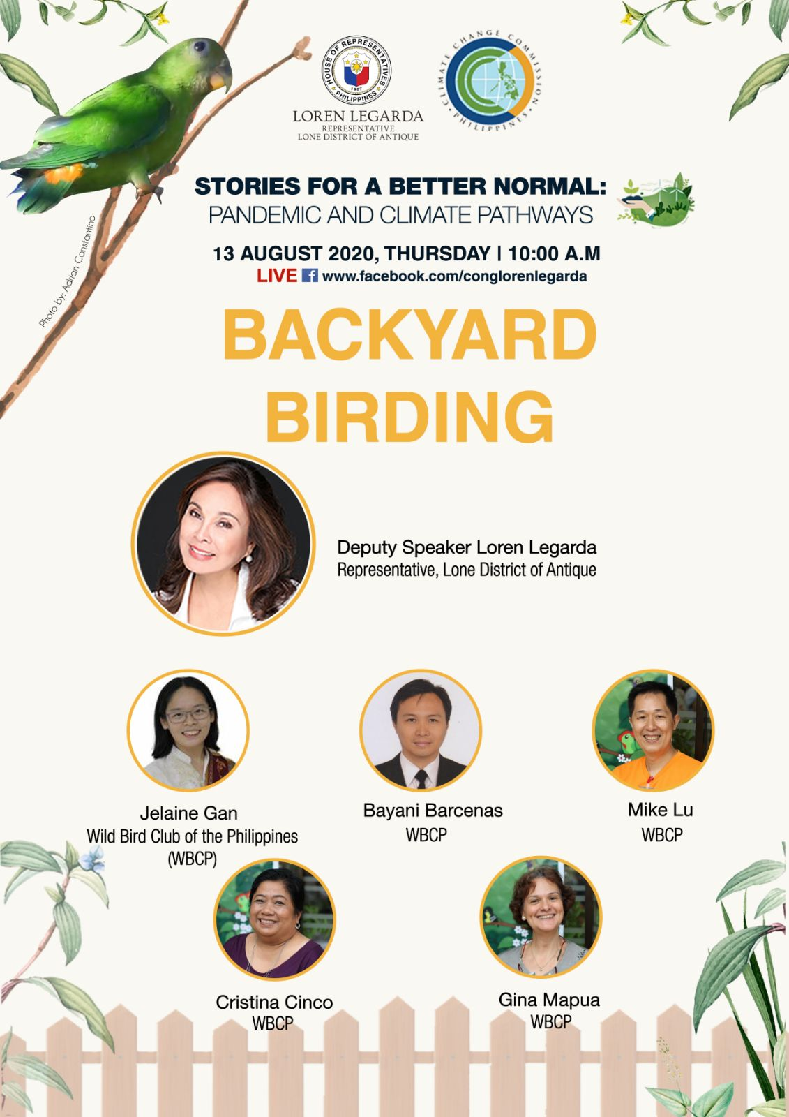 """Backyard Birding in 13th Episode of """"Stories for a Better Normal"""" Series"""