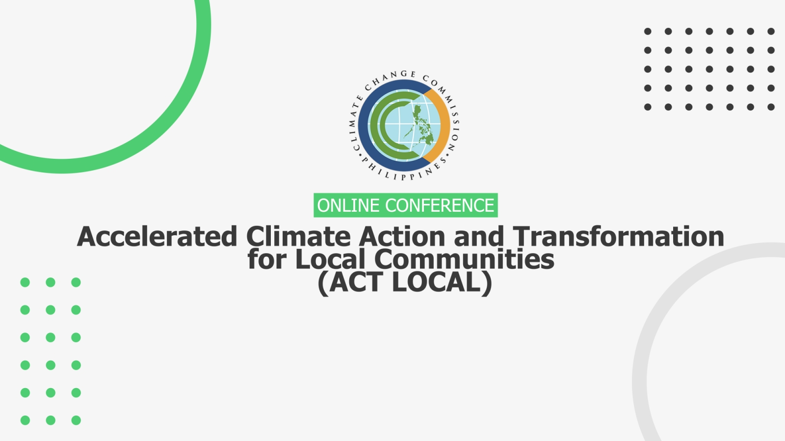 Week 3 ACT LOCAL - Accelerated Climate Action and Transformation for Local Communities